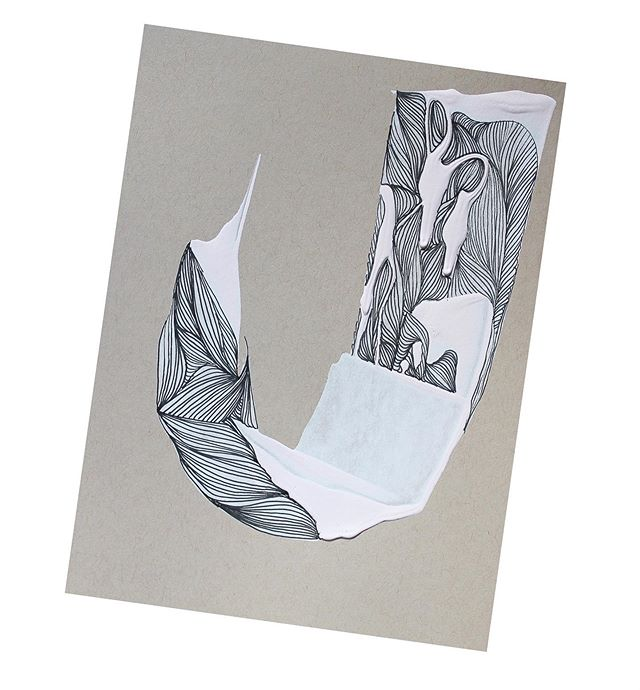 J for July . . . #abstractart #abstractdrawing #workspace #artstudio #linedrawing #artistsstudio #contemporaryart #palletknifepainting #upstateny #hudsonvalley #micronpen #archespaper #illustrator #illustration