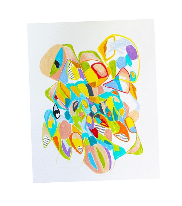 an accurate portrait of my scrabbled egg brain swirling with ideas for new projects brought to you by a 90 degree day 🌞🤪 . . . #abstractart #abstractdrawing #workspace #artstudio #illustrator #illustration #artistsstudio #hudsonvalley #upstateny #upstatenewyork #pencildrawing #coloredpencil #contemporaryart
