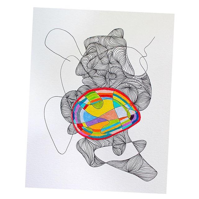 straight to the heart of it . . . #abstractart #abstractdrawing #workspace #artstudio #artistsstudio #linedrawing #pencildrawing #illustration #illustrator #hudsonvalley #upstateny #upstatenewyork #micronpen #archespaper