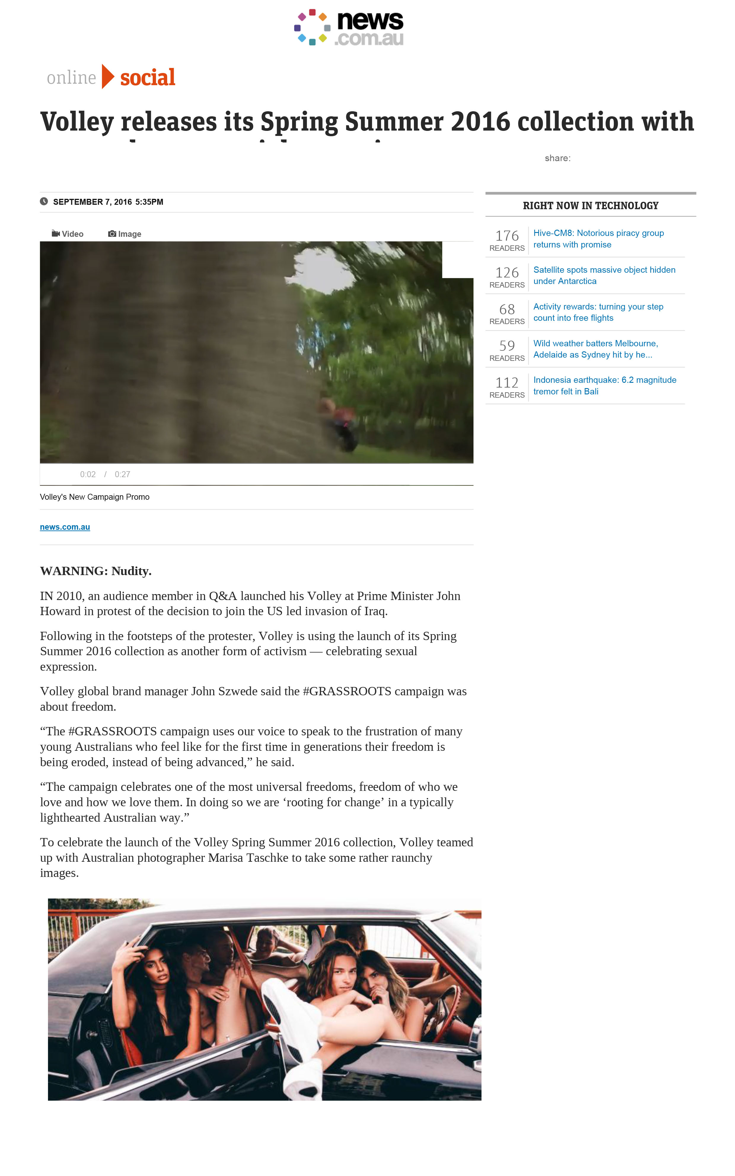 News.com- Volley