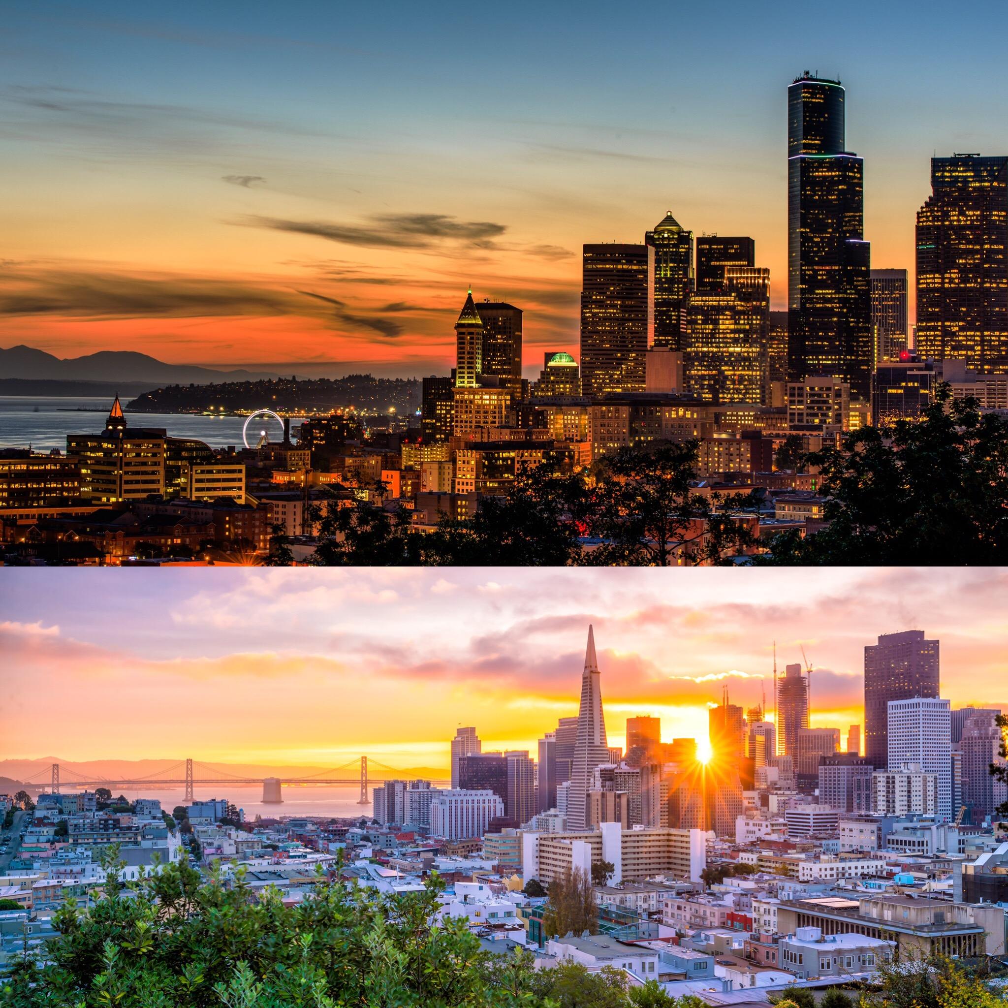 Photos (Above) Seattle (Below) San Francisco