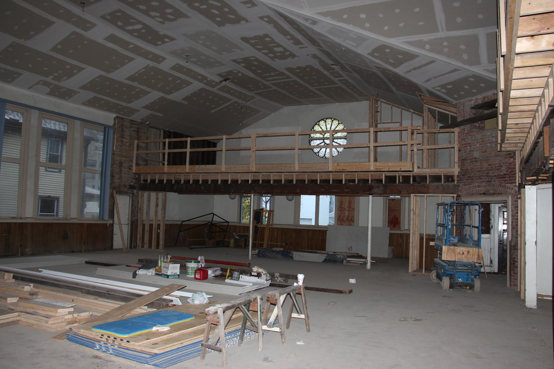 - A grueling renovation and buildout followed. The large building was in much rougher shape than anticipated and, as with many project of this size, there were a number of bumps along the way. An outpouring of community support raised the needed Kickstarter funds and The Playhouse opened for business in December 2015