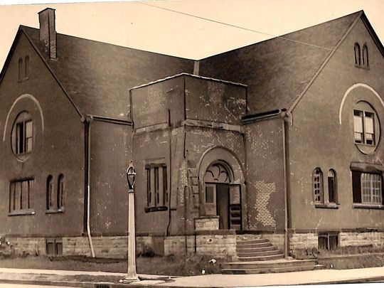 Historic photo of The Playhouse from the collection of the Rochester Public Library Local History Division