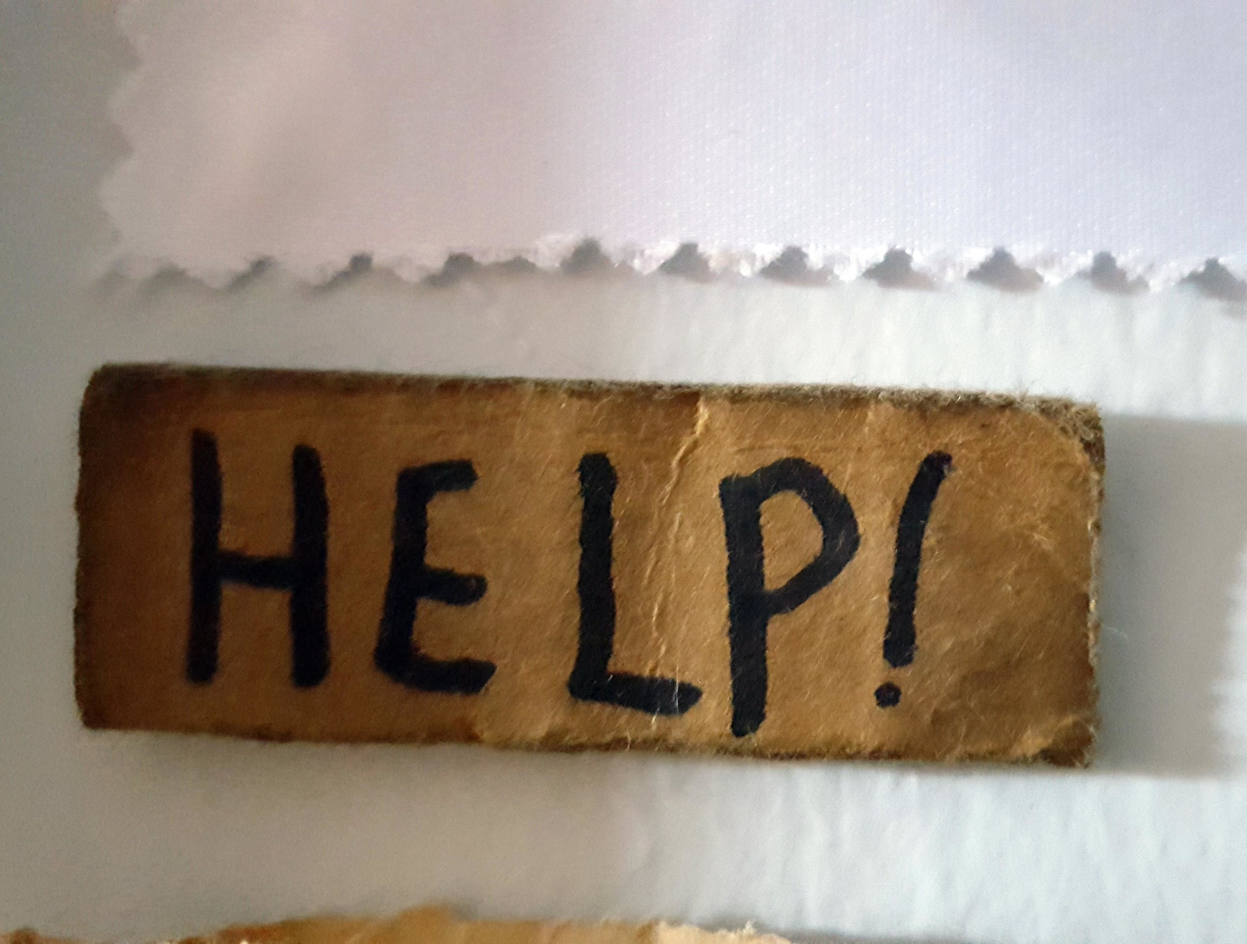 This little cardboard sign hangs on my wall. I bought it a few years ago from a panhandler on the Avenue. I've always loved it, I loved that he was so open about asking for help. It reminds me to do the same.