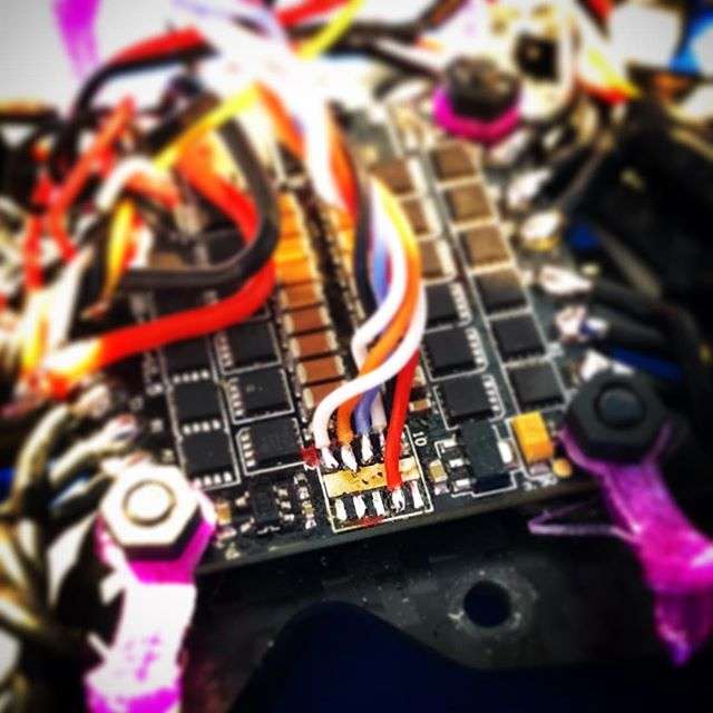 When you finally break every pin header on your 4in1... #hobbywing #fpv #drone #builds