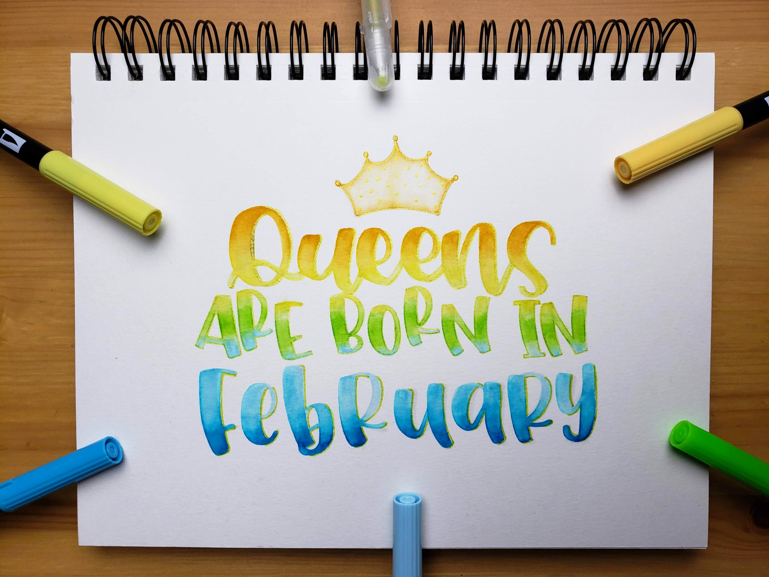 queens-are-born-in- february-letters-by-gigi-hand-lettering-los-angeles-artist-custom-typography-modern-calligraphy-instagram-art