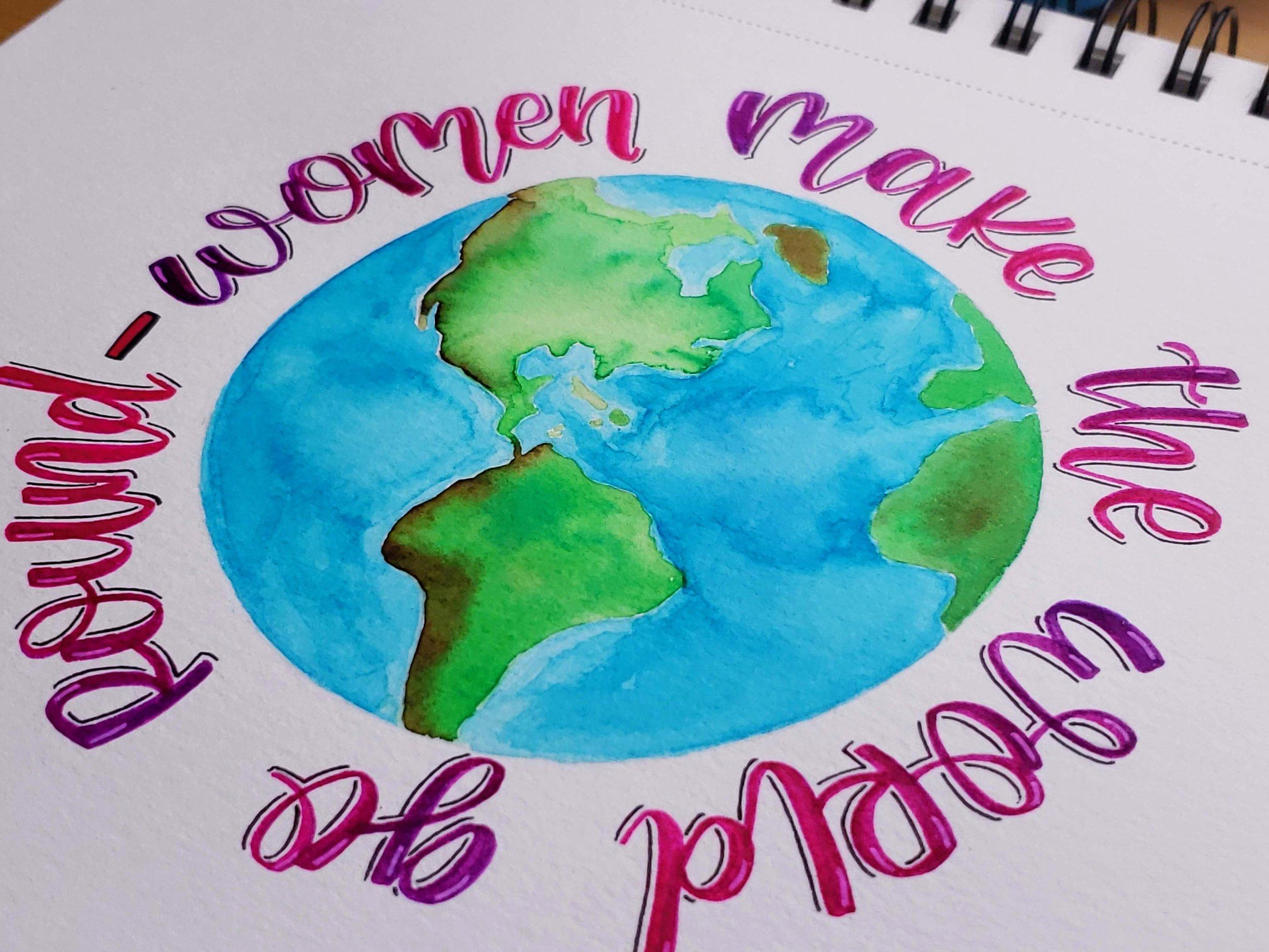 women-make-the-world-go-round-Letters-by-gigi-hand-lettering-los-angeles-artist-custom-typography-modern-calligraphy-instagram-art