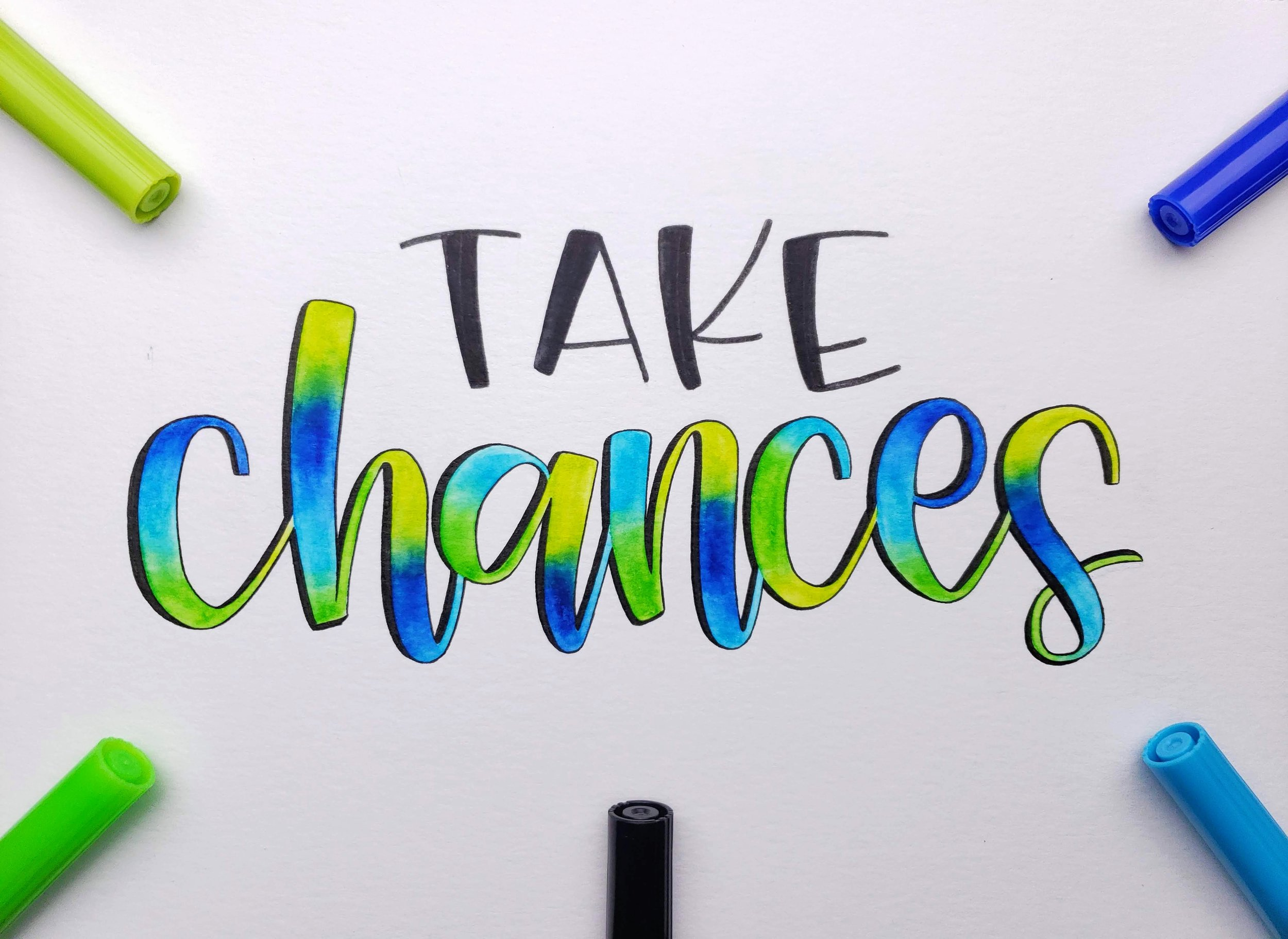 take-chances-letters-by-gigi-hand-lettering-los-angeles-artist-custom-typography-modern-calligraphy-instagram-art