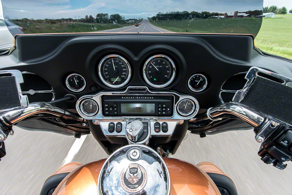 From the driver's seat, exposure in full auto. Lens is the 6.7mm-13mm