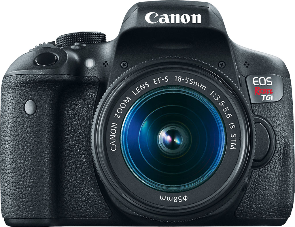 Canon Rebel T6i with EF-S 18-55/3.5-5.6 IS STM