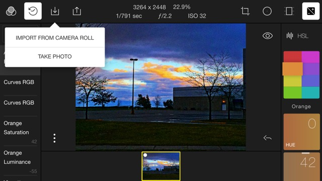 Importing images to Polarr on your smart device