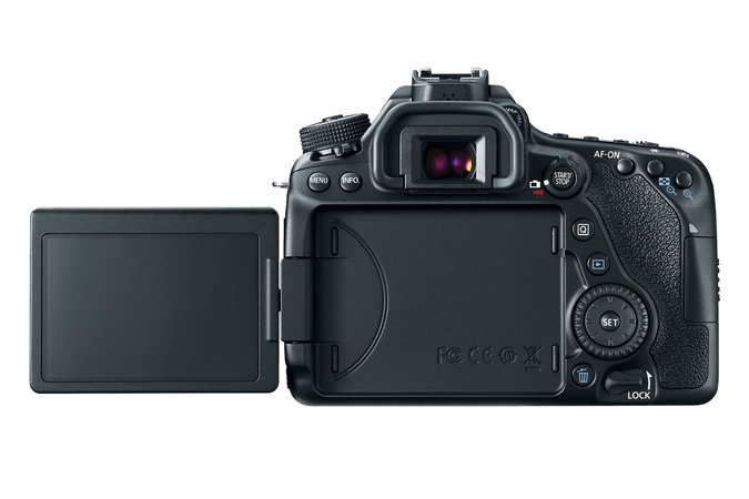 Canon's rotatable and flippable LCD, one of the nicest moveable LCD mechanisms in the market