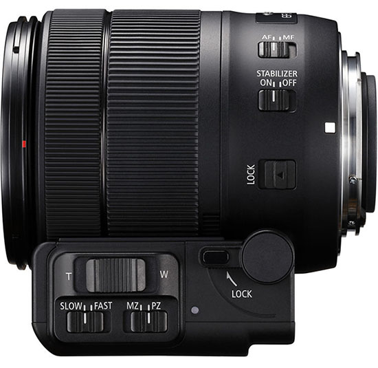 The PZ-E1 power zoom adapter attached to the new 18-135