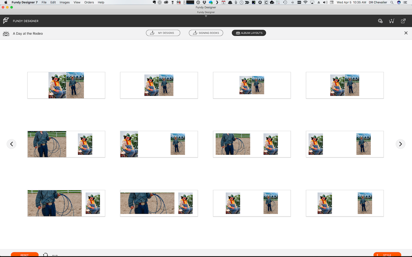 Just one screen of the myriad layouts programmed into Fundy Designer