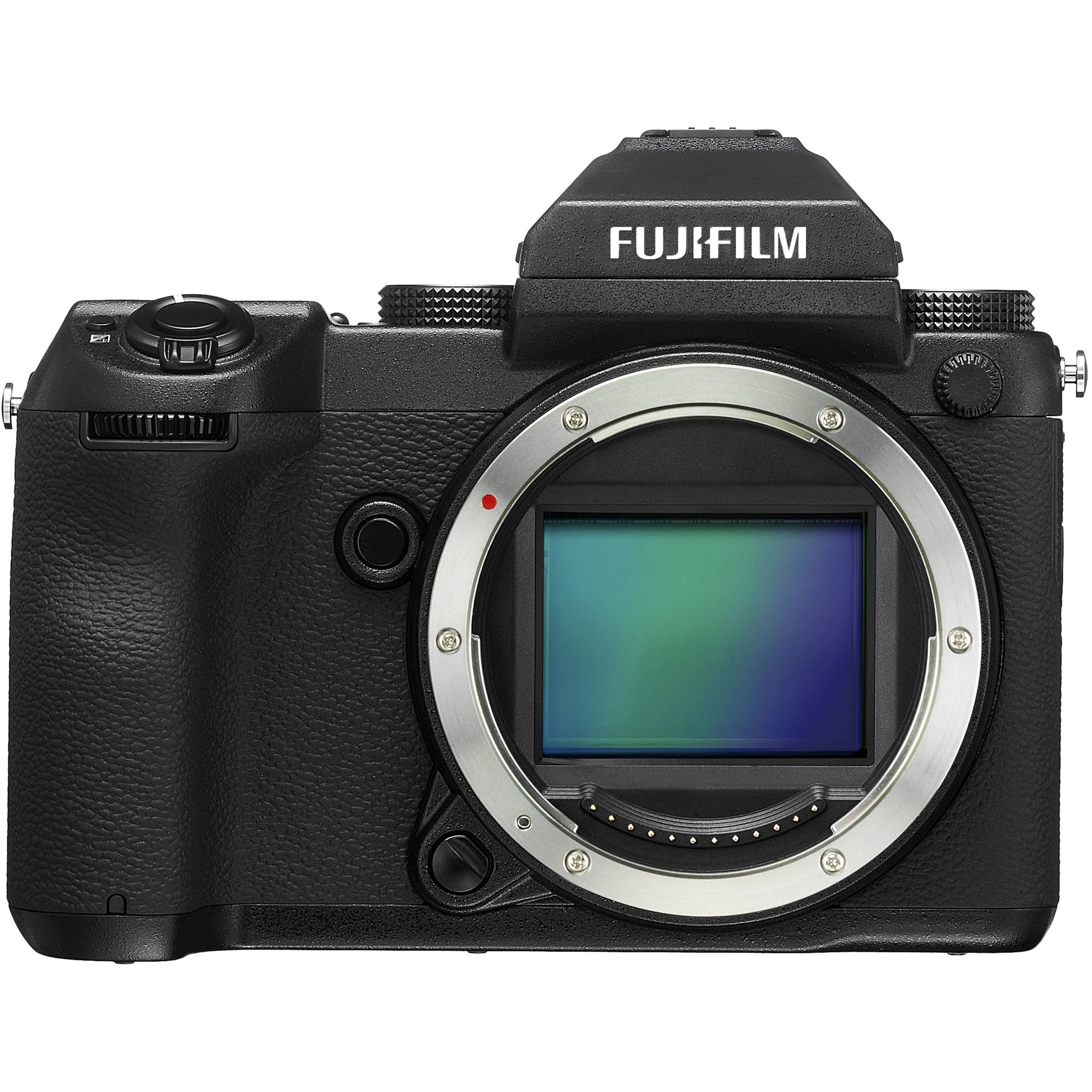 The Fujifilm GFX 50S body. Much less enormous than it looks in the image