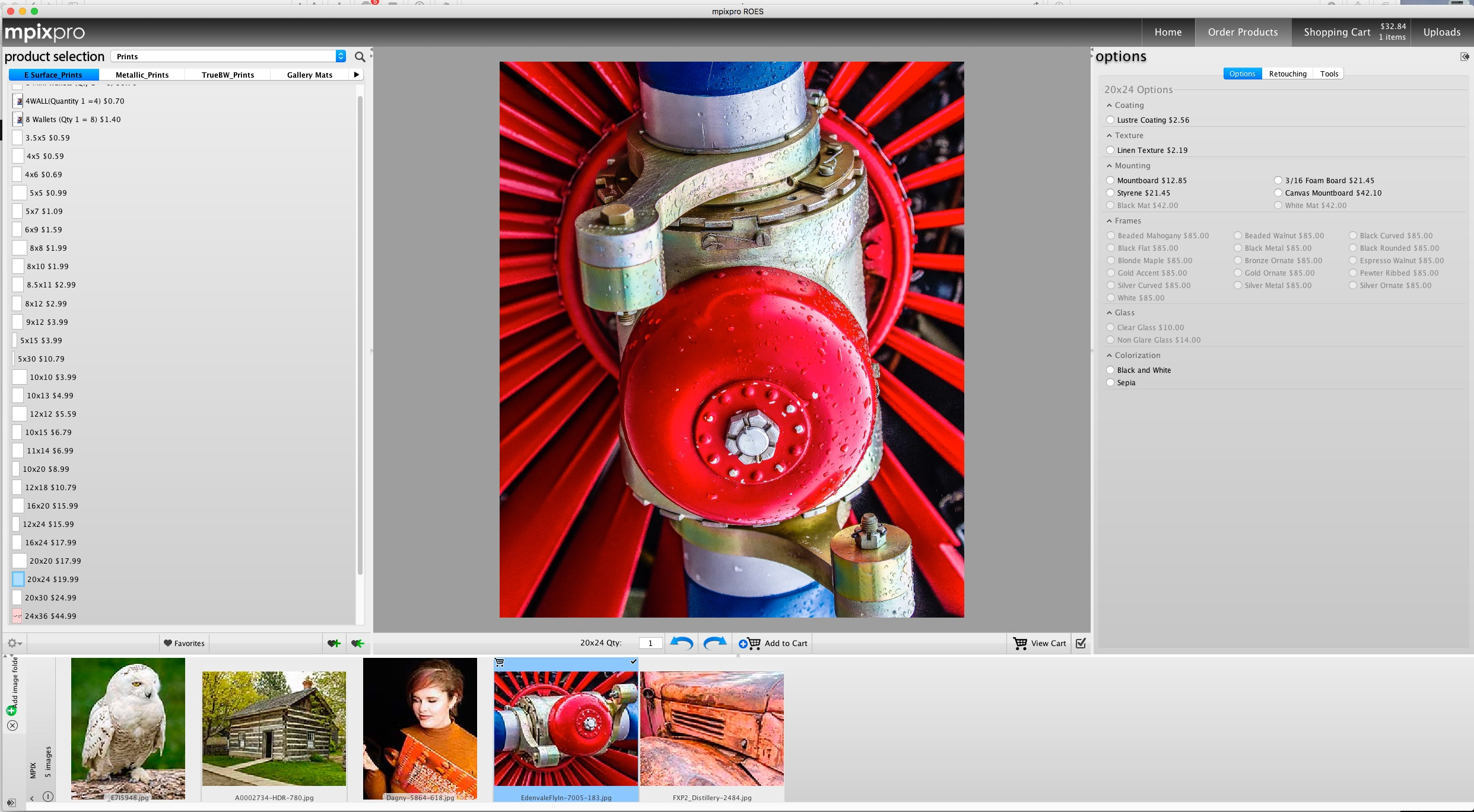 A screenshot from the ROES client for MPIX Pro