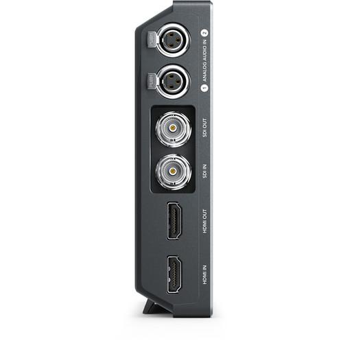 Dual mini XLR inputs, SDI and HDMI inputs and outputs