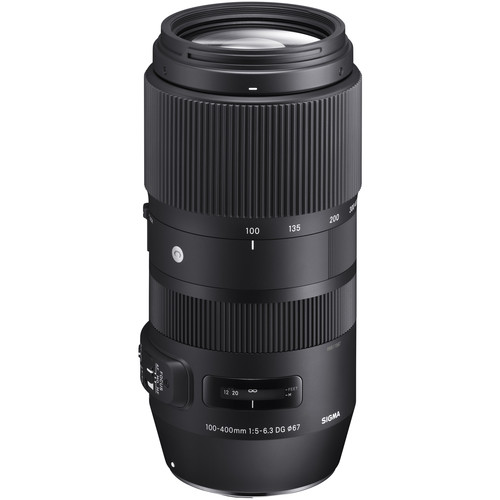 Sigma's 100mm - 400mm f/5-6.3 zoom. Smaller and lighter than expected