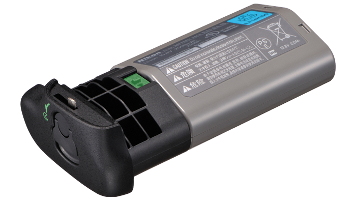This is the combination of the BL-5 battery cover adapter and the EN-EL-18b battery. This is the same battery as used in the Nikon D5. I like this combination in the battery grip, but I don't like the pricing.