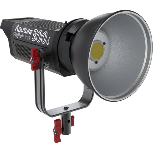 Aputure 300d with standard Bowens S mount for light shaping tools. Fixed 5500K colour. About $1100 USD