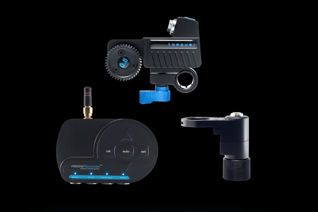 This is a remote focus controller from Redrock Micro. It allows a remote focus puller to handle focus chores without ever touching the camera