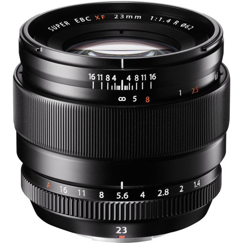 My go-to lens is the 23mm f/1.4   It is light and fast and if I need it has a workable focus scale.