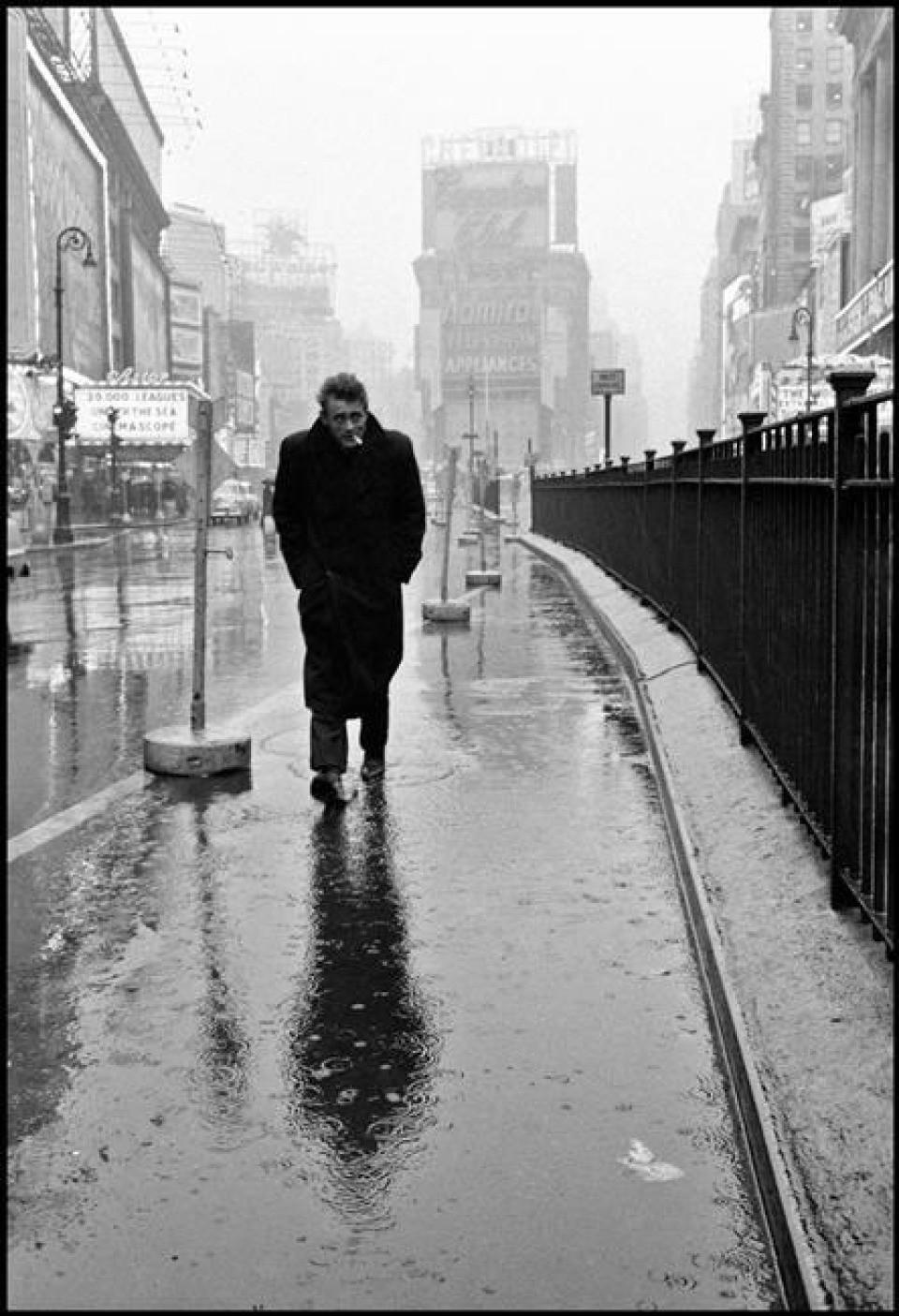 James Dean - image copyright Dennis Stock, Magnum 1955