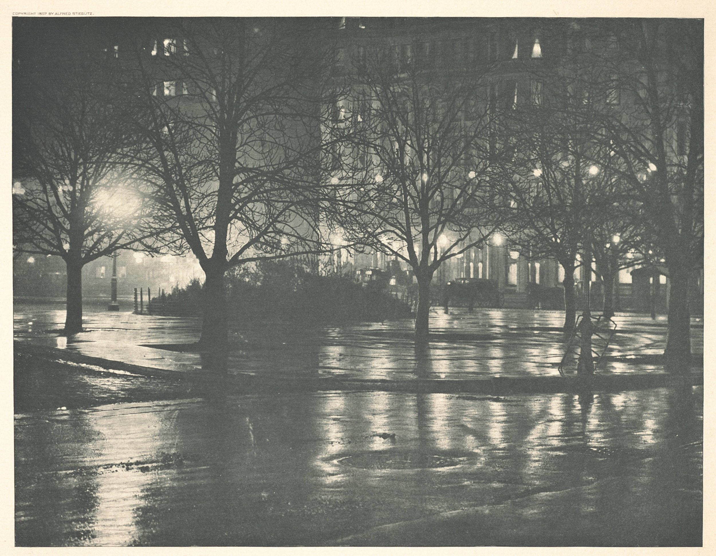 Reflections, New York at Night by Alfred Steiglitz All Rights Reserved