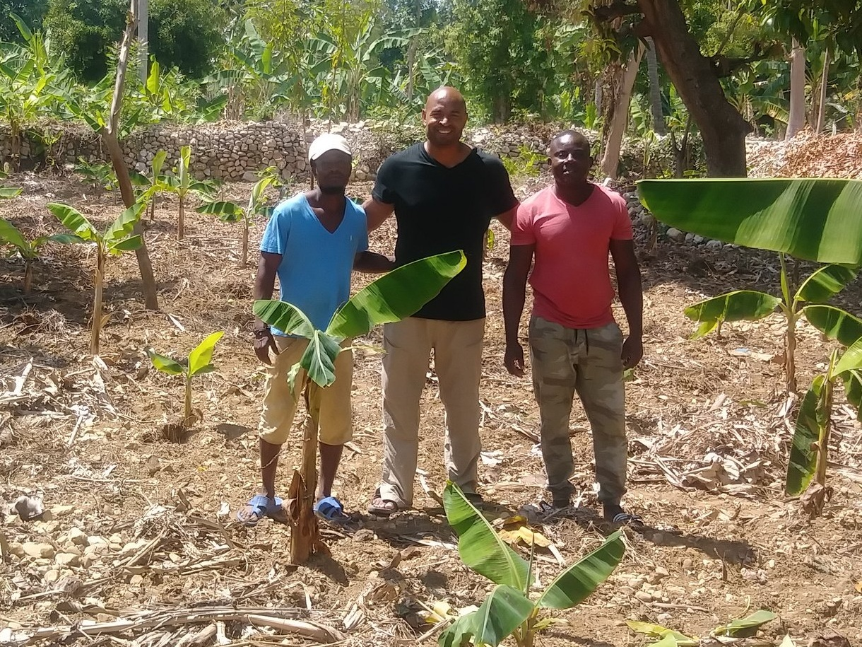 - Rented land, bought 150 banana trees, beans and fertilizer for both Ousann's and David's farming endeavor.