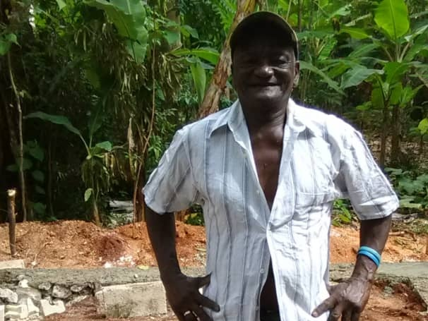 - Last, but not least, after Peter Saintluc, (Lukeson's dad), came to Christ, someone burnt his house to the ground. However, with donations raised, we were able to build him a new 1-room house and buy him a bed.