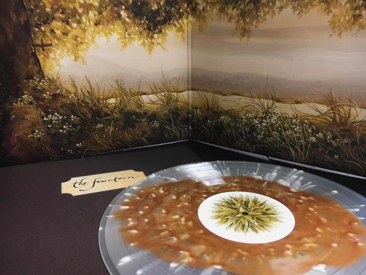 """The Fountain"" Original Motion Picture Sountrack LP. Artwork by Nicole Gustafsson. Image via Mondo."