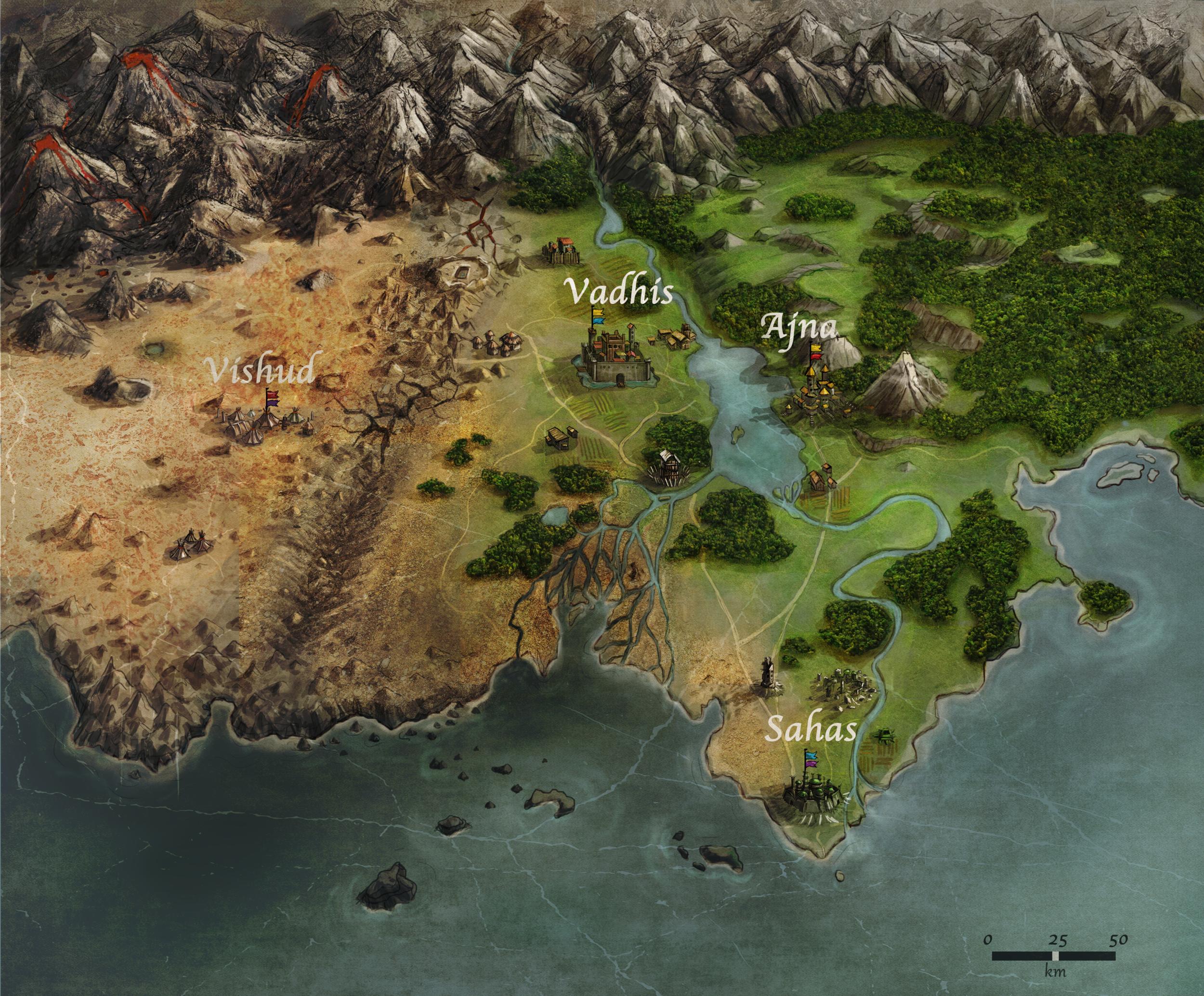 The map of Jaelara