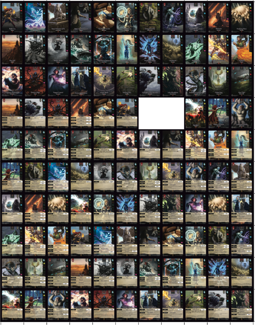 This is how the uncut sheet will look like.
