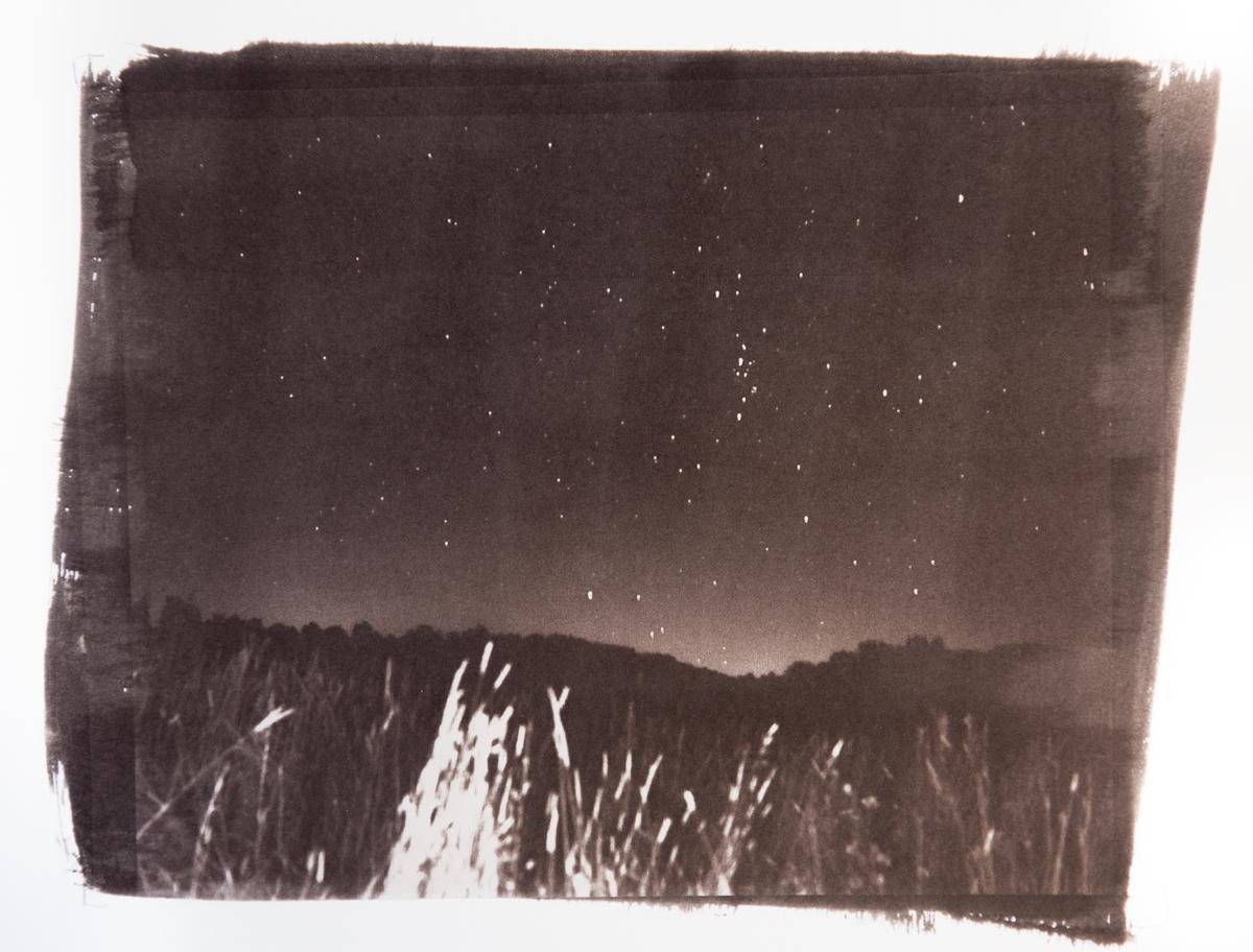 Stars in a dark country field