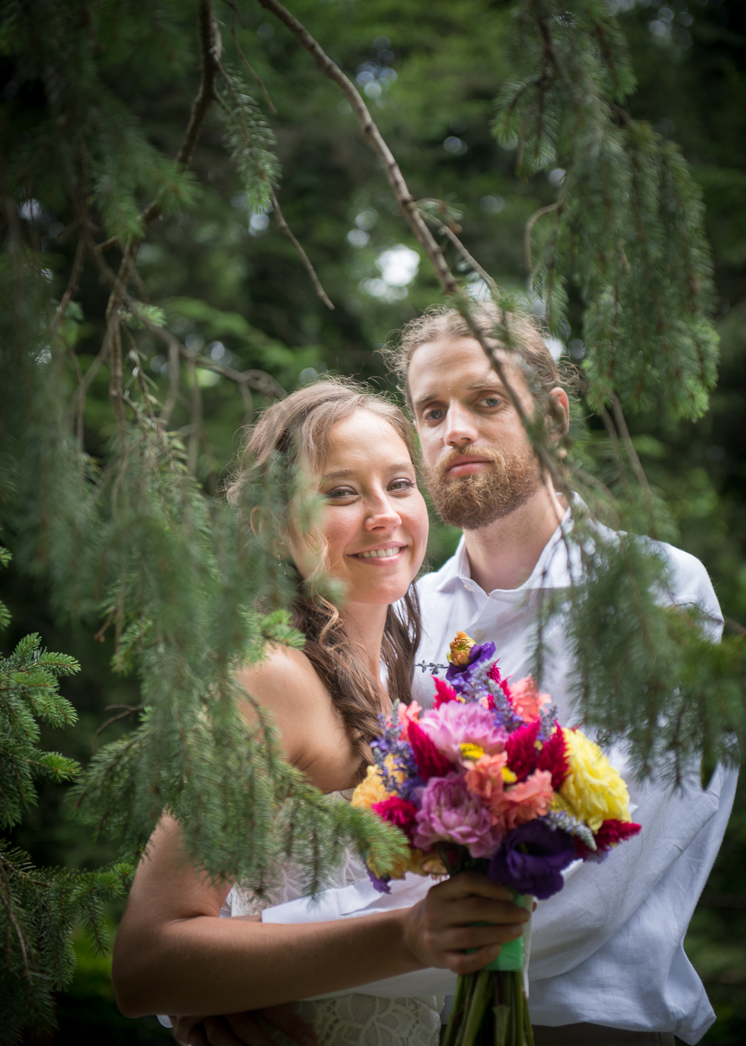 Ada and Aaron are journalists and conscientious world travelers. They were both born with initials AJK. On July 10th,they were married.