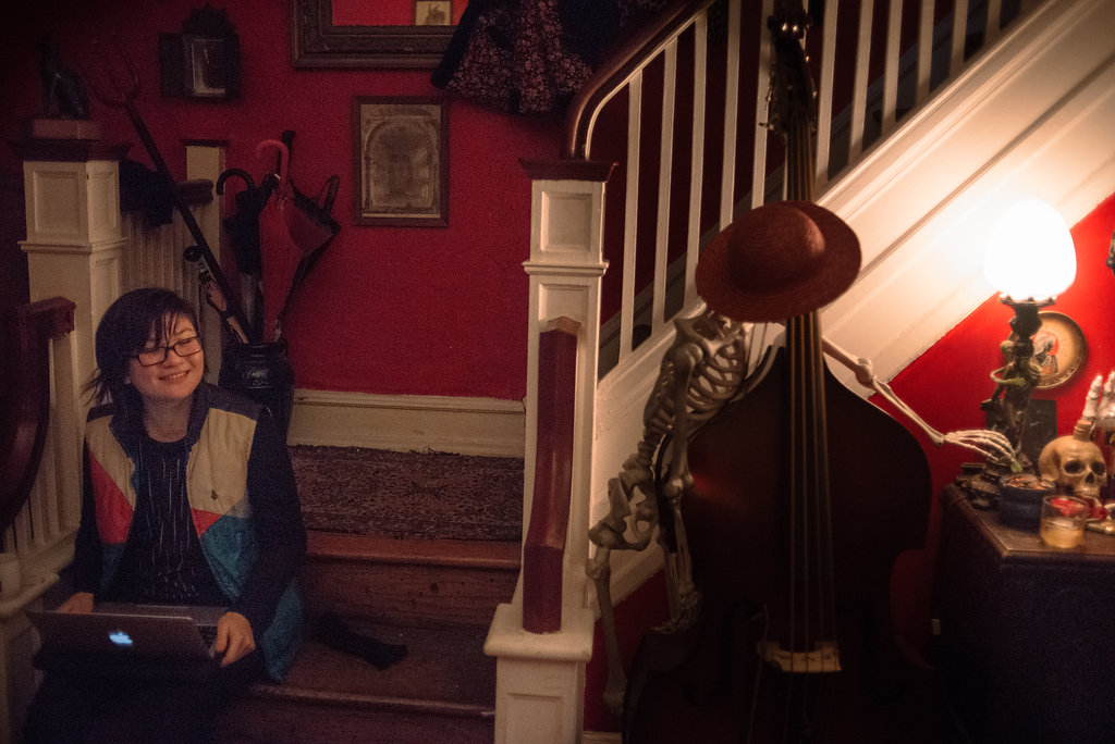Evan the Cellist and Skeleton the Bassist