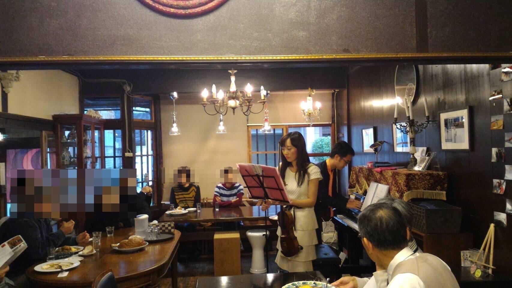 町家を使ったレストランで、とても綺麗な内装です。