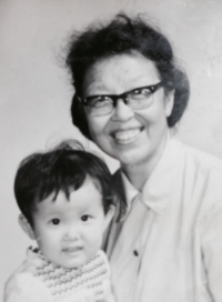 My grandmother and I, 1981