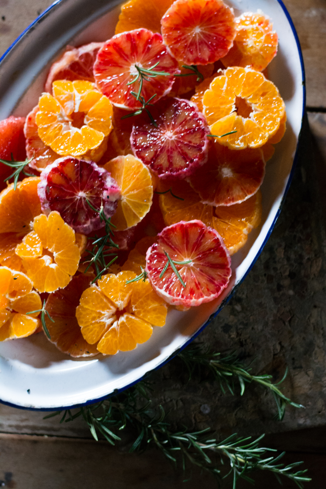 Weekend with the Dailys Sunday Suppers brunch citrus salad