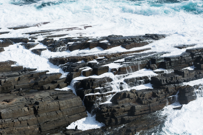Look closely and you'll see the fur seals on the rocks