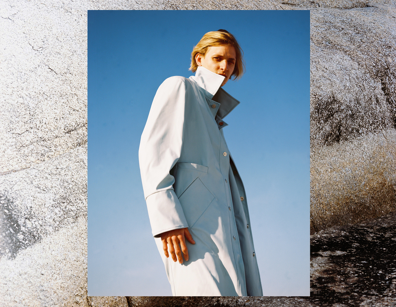 Gavin wears coat, Rich Mnisi