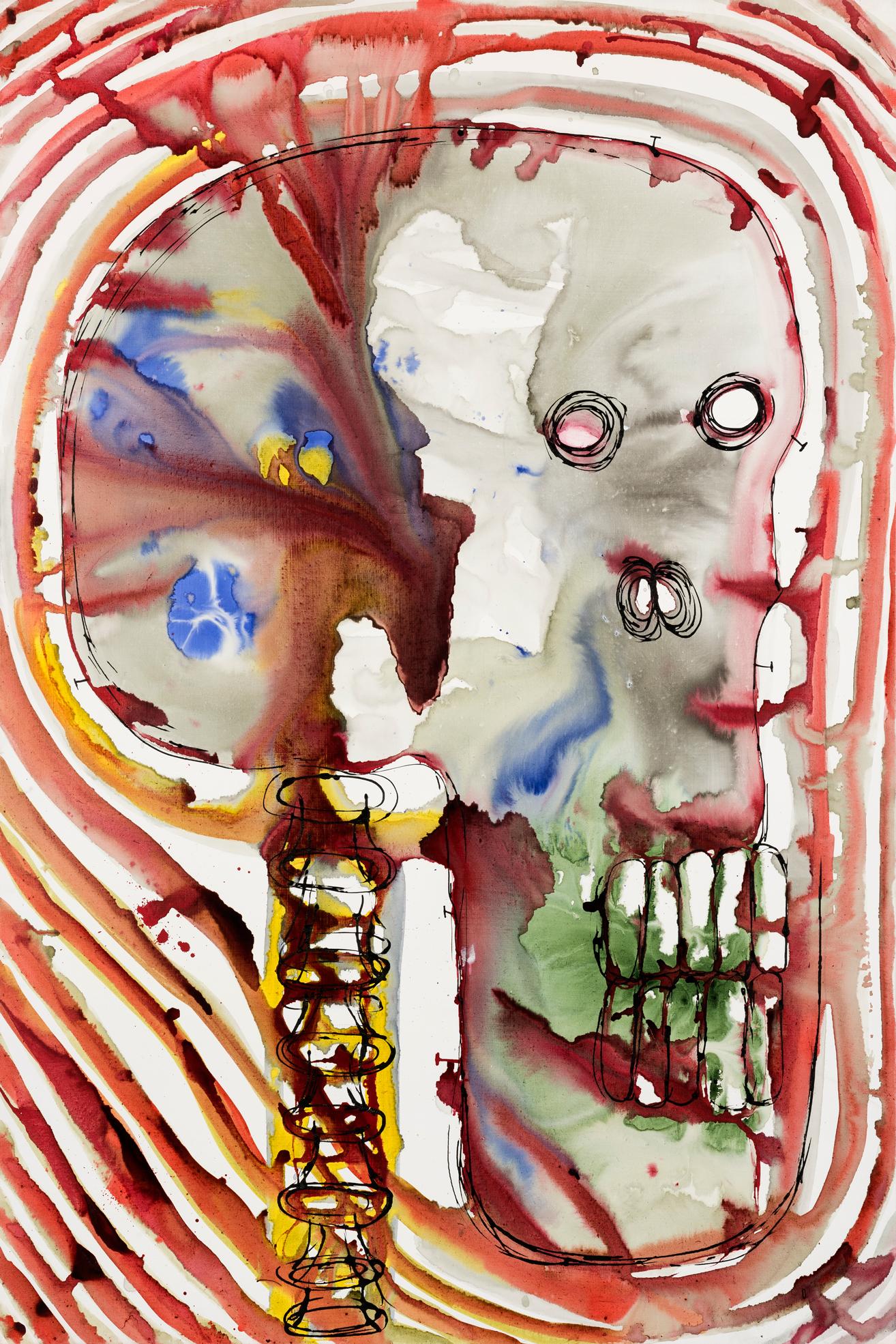 Nuclear Destiny I, 2015 Acrylic on canvas,195 x 130 cm