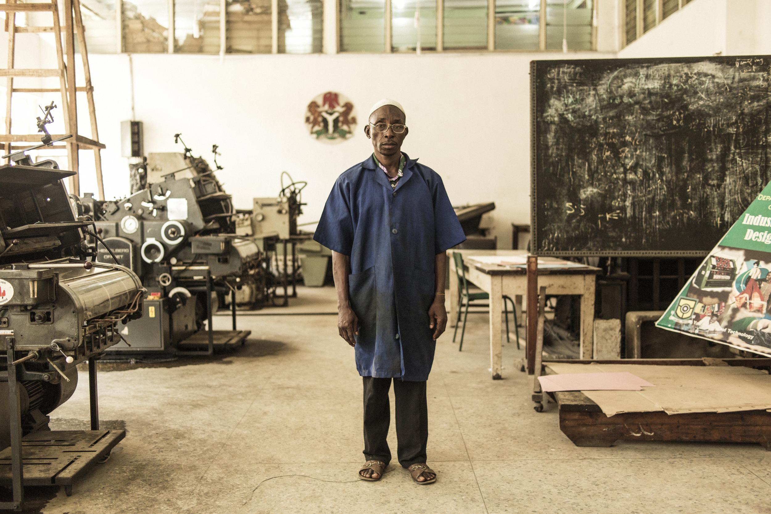 Ogundeyi Ganiyu, head of printing at Yaba Tech