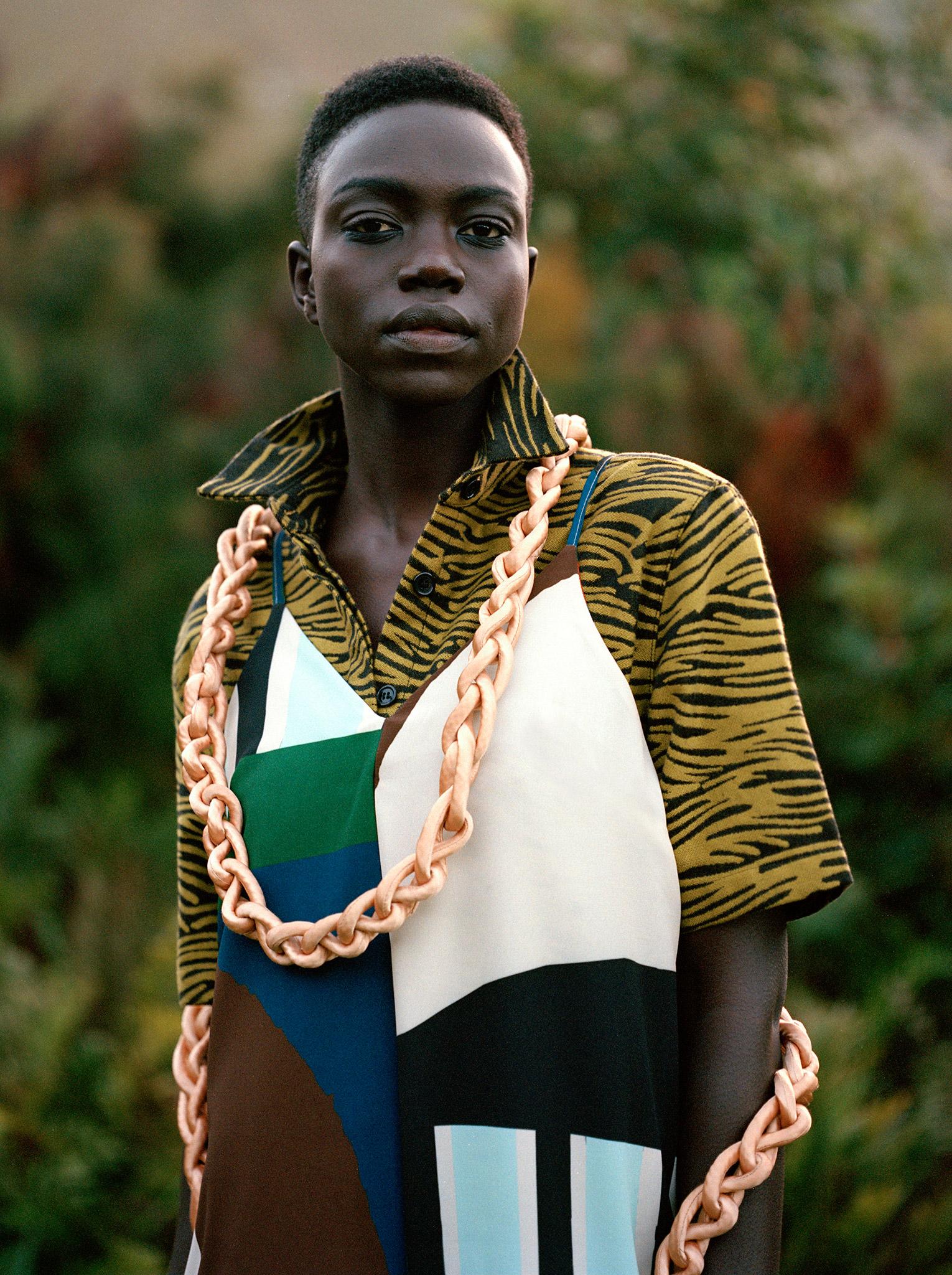 Jumpsuit by Selfi, shirt by AKJP, jewellery by W35T