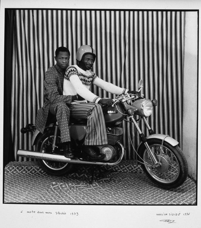 On the motorbike in my studio, 1973