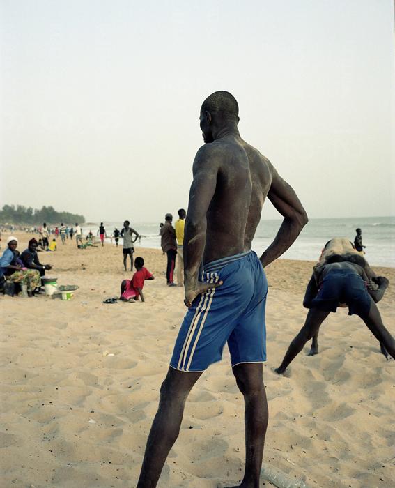 Beach scene in Mbour
