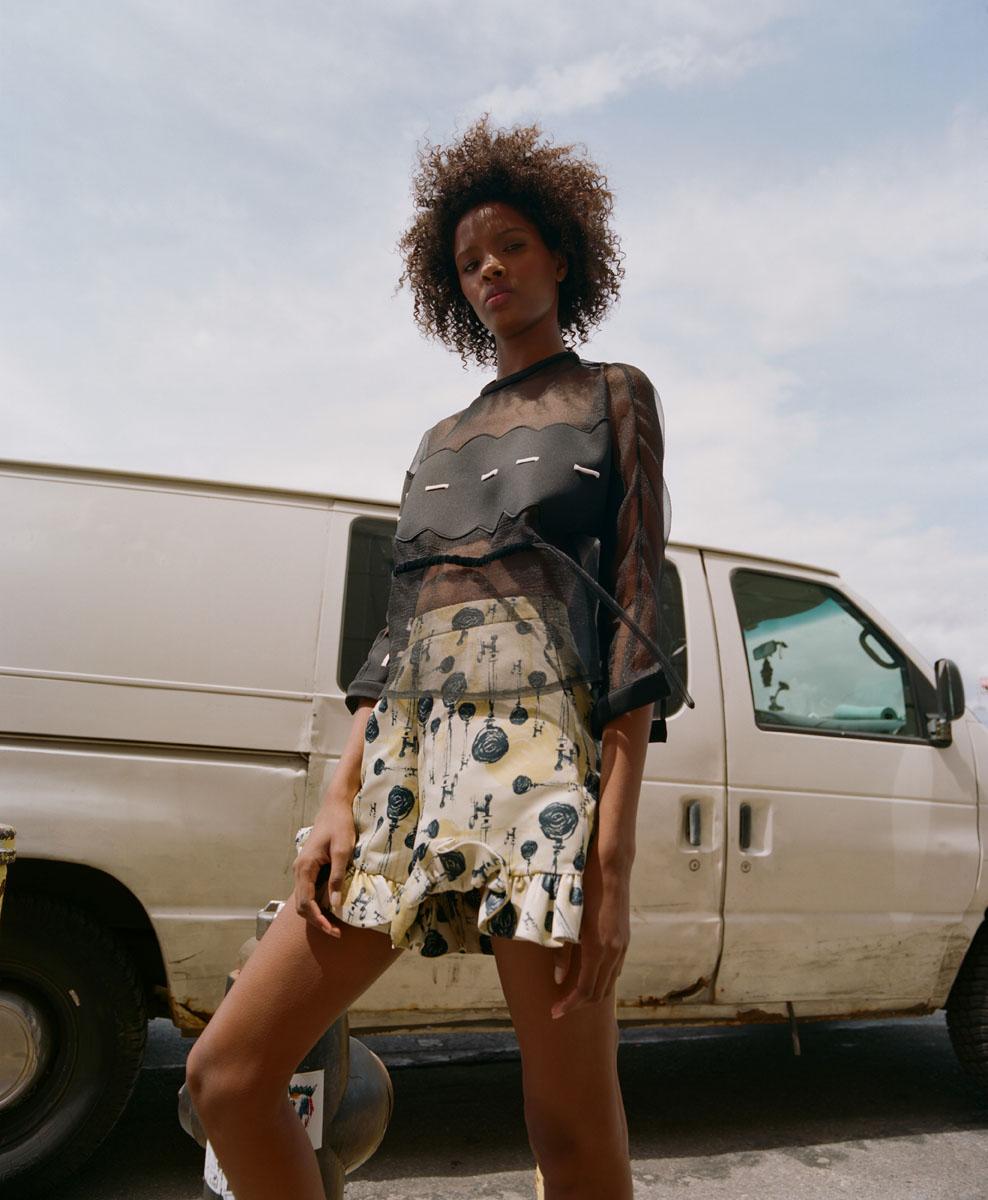 Bridget Awosika top, Lisa Folawiyo shorts