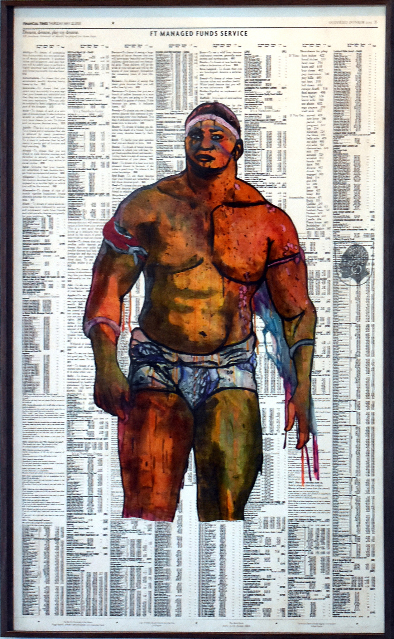 Godfried Donkor, Olympians XIII (2018), © the artist and courtesy of Dak'Art 2018 and Gallery 1957