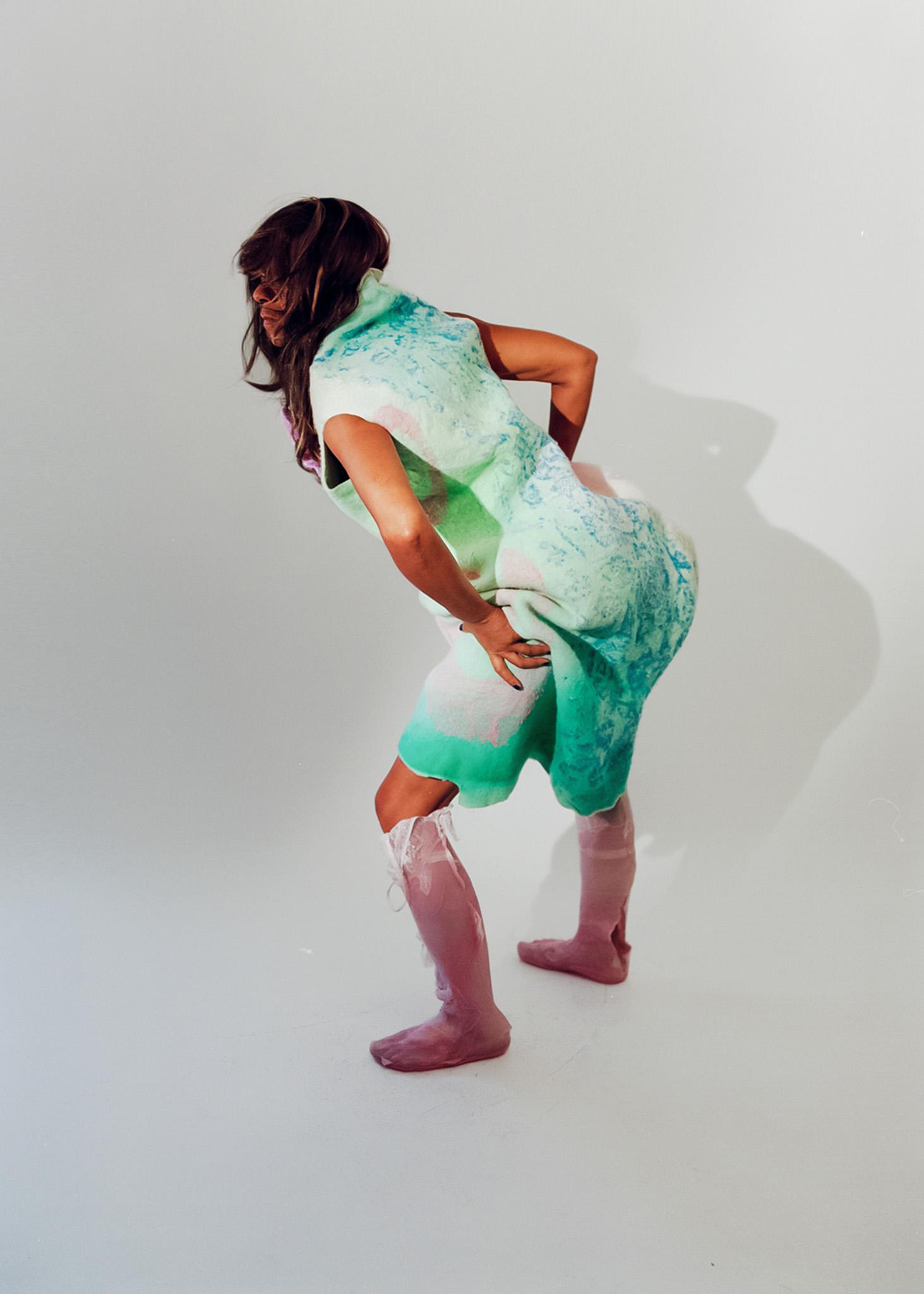 Diane Gaignoux dress, Sinead O'Dwyer shoes