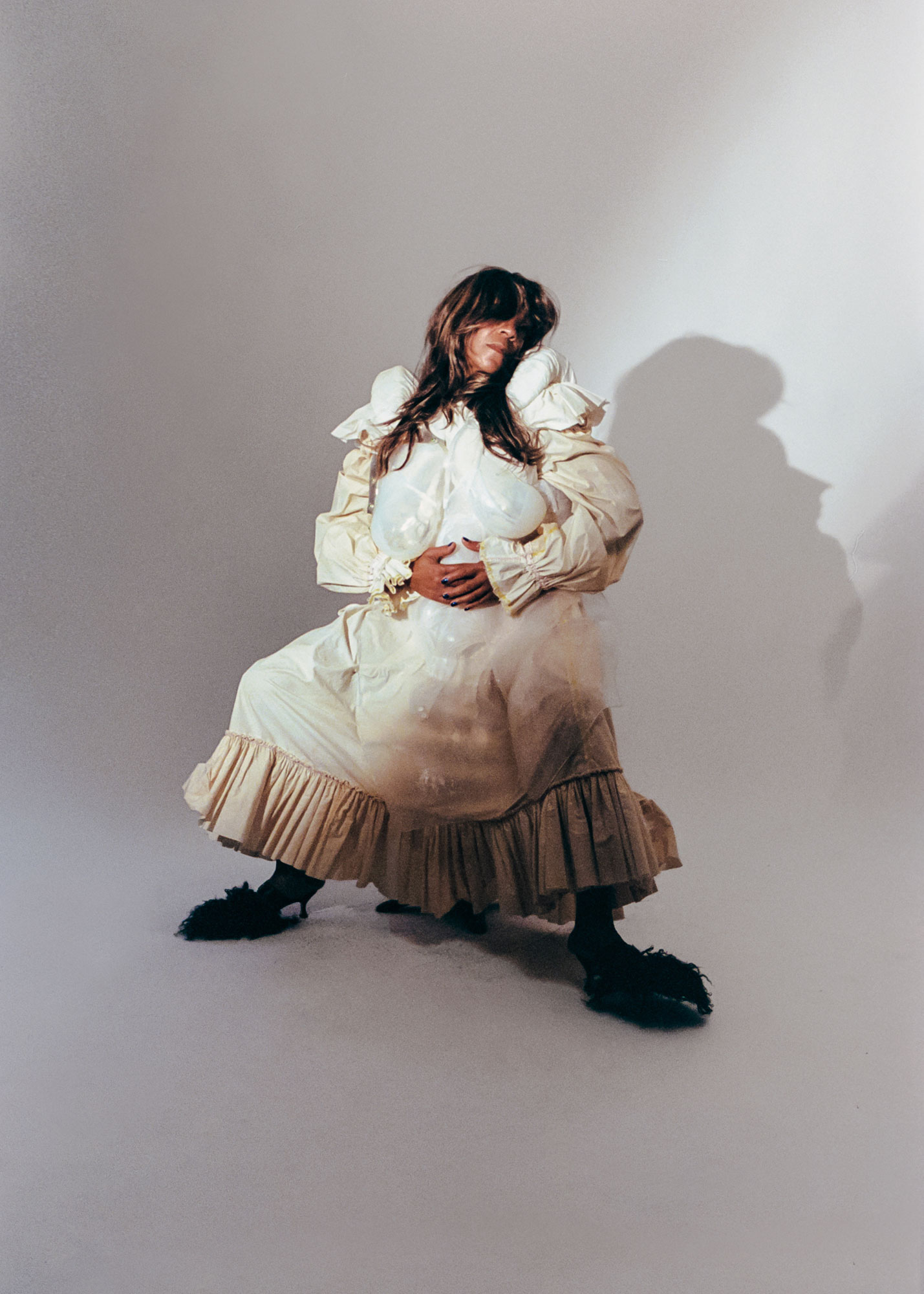Fabian Kis-Juhasz dress, Sinead O'Dwyer top, Western Affair shoes